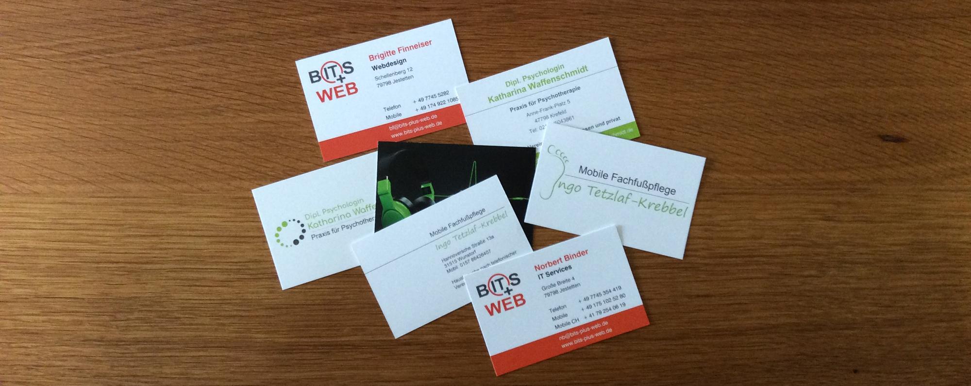 Visitenkarten von BITS+WEB
