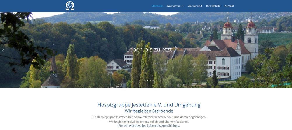 Eine Webseite für die Hospizgruppe Jestetten