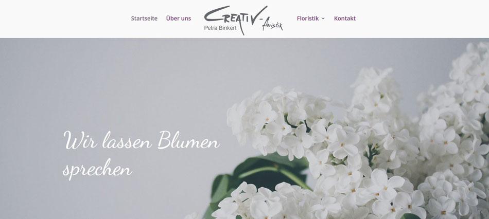 Eine Webseite für Kreative Köpfe